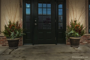Business Custom Designed Winter Evergreen Containers
