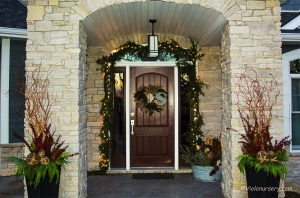 Home Custom Designed Winter Evergreen Containers